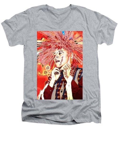 Native Prince Men's V-Neck T-Shirt by Audrey Robillard