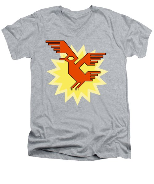 Native South American Condor Bird Men's V-Neck T-Shirt