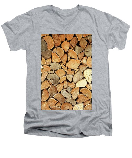 Natural Wood Men's V-Neck T-Shirt