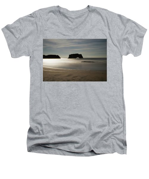Natural Bridges State Beach Sand Men's V-Neck T-Shirt