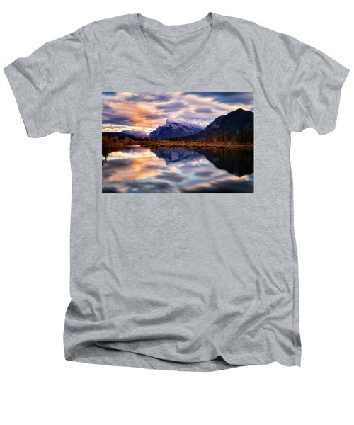 Natural Mirror Men's V-Neck T-Shirt by Nicki Frates
