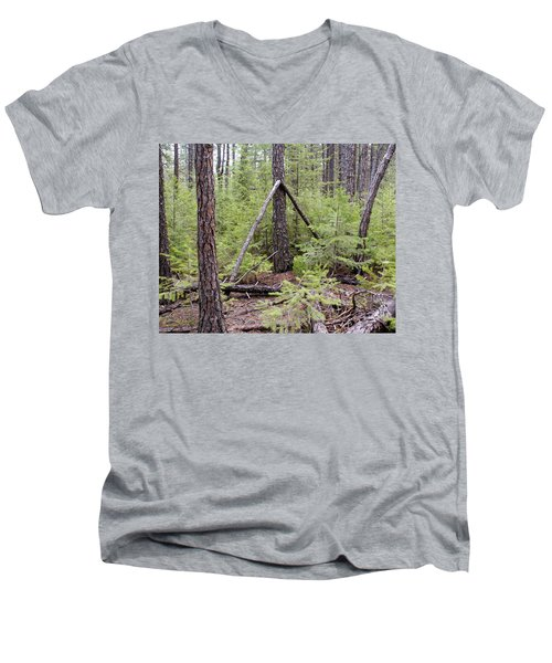 Natural Peace In The Woods Men's V-Neck T-Shirt