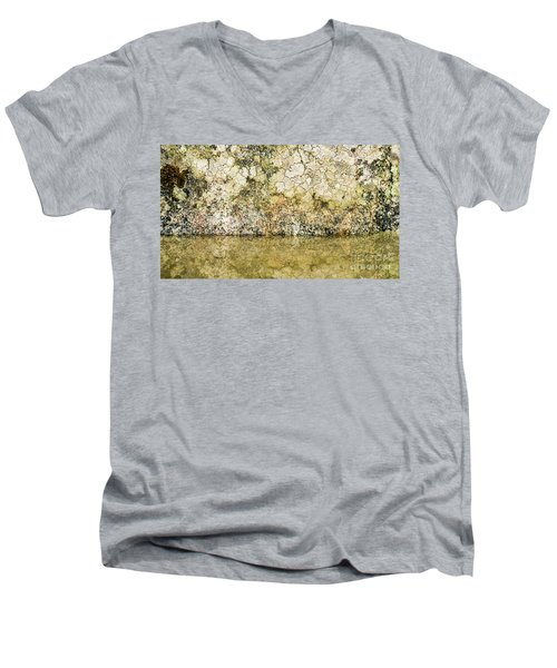 Men's V-Neck T-Shirt featuring the photograph Natural Stone Background by Torbjorn Swenelius