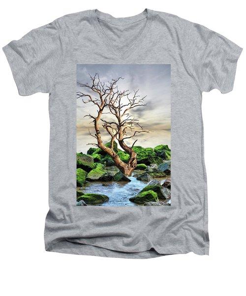 Men's V-Neck T-Shirt featuring the photograph Natural Surroundings by Angel Jesus De la Fuente