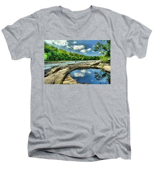 Natural Swimming Pool Men's V-Neck T-Shirt