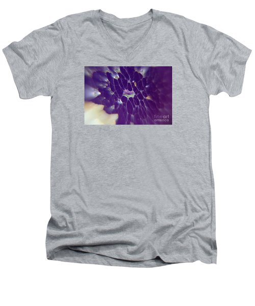 Men's V-Neck T-Shirt featuring the photograph Nature Abstract by Yumi Johnson