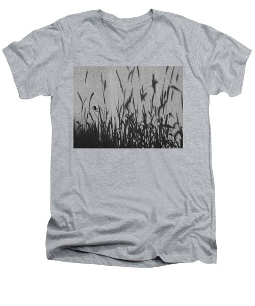 Nature As Shadow Men's V-Neck T-Shirt by Lenore Senior
