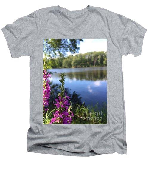 Nature Channelling  Men's V-Neck T-Shirt by Jason Nicholas