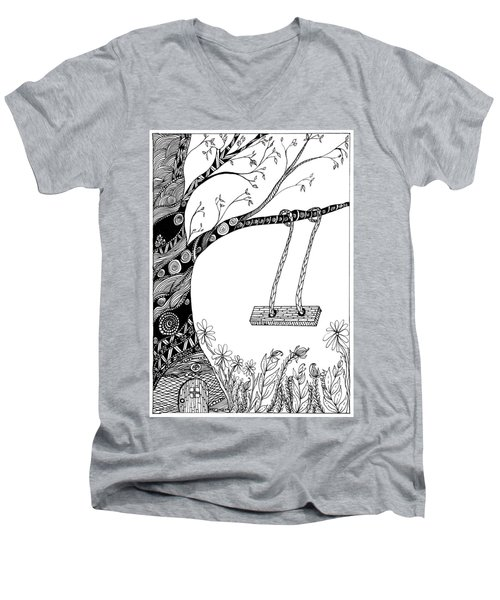 Nature Is Calling Come Out And Play Men's V-Neck T-Shirt