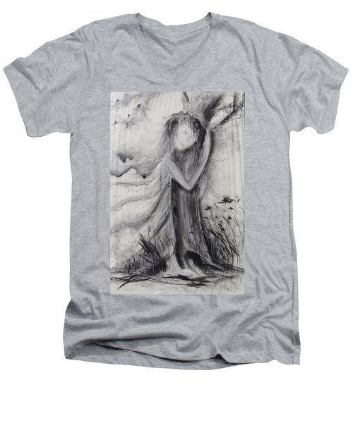 Nature Love  Men's V-Neck T-Shirt