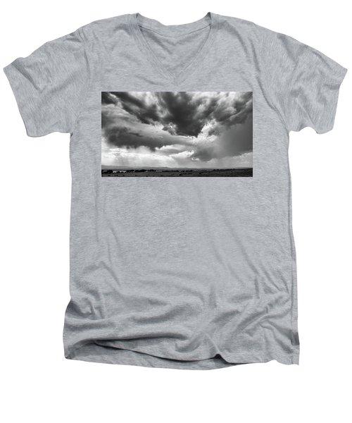 Nature Making Art Men's V-Neck T-Shirt by Monte Stevens