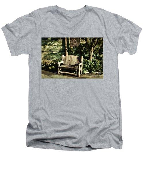Nature - Peacefulness  Men's V-Neck T-Shirt by Judy Palkimas