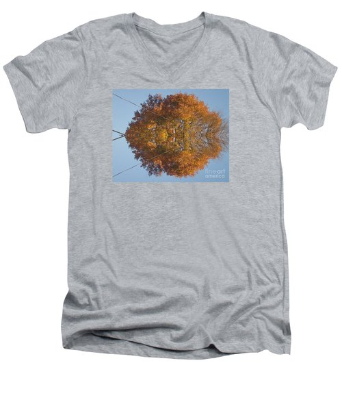 Men's V-Neck T-Shirt featuring the photograph Nature Unleashed by Christina Verdgeline
