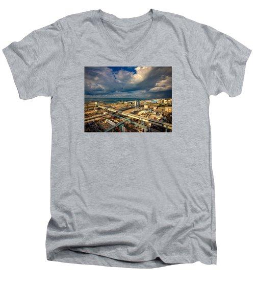 Nature Vs Technology Men's V-Neck T-Shirt