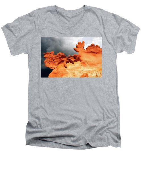 Men's V-Neck T-Shirt featuring the photograph Nature's Artistry Nevada 2 by Bob Christopher