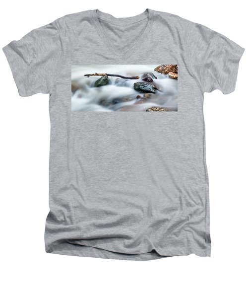 Natures Balance - White Water Rapids Men's V-Neck T-Shirt