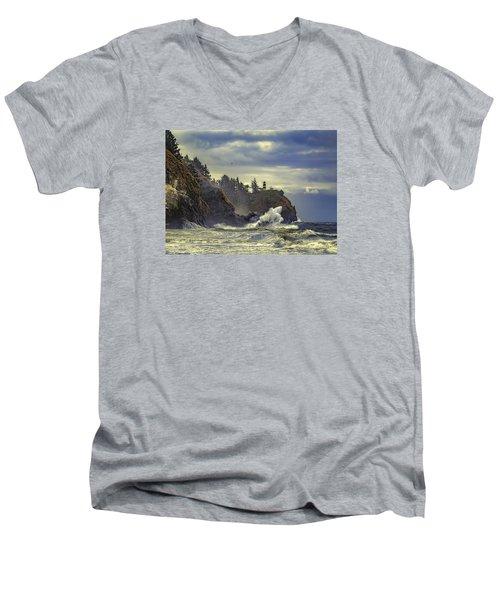 Natures Beauty Unleashed Men's V-Neck T-Shirt by James Heckt