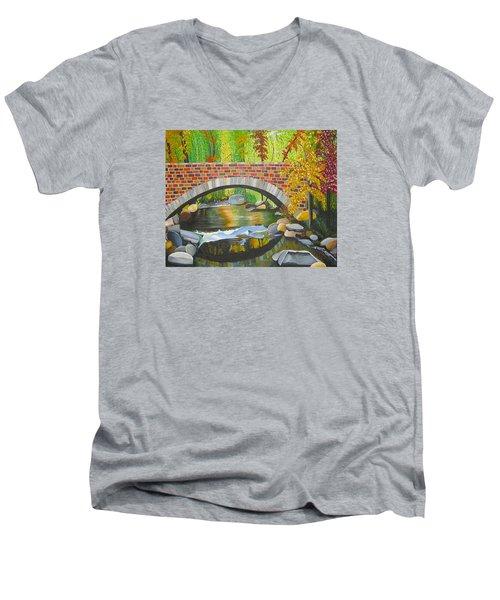 Natures Eye Men's V-Neck T-Shirt by Donna Blossom