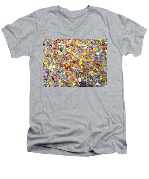 Natures Fall Falling Patterns Men's V-Neck T-Shirt