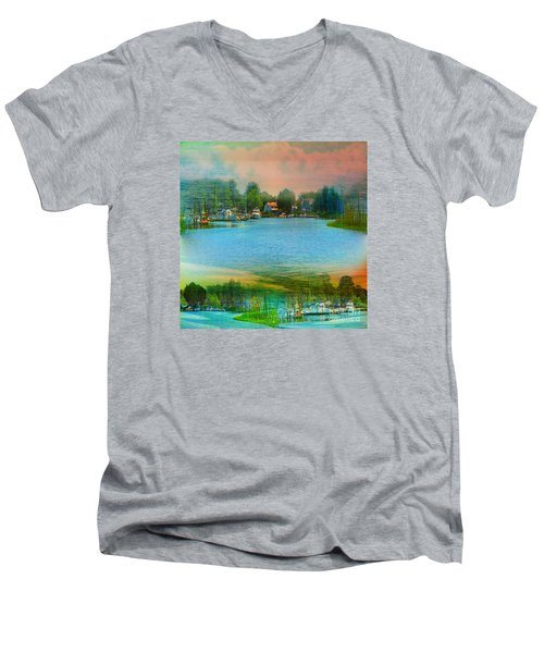 Nature's Magical Sunsets Men's V-Neck T-Shirt by Judy Palkimas