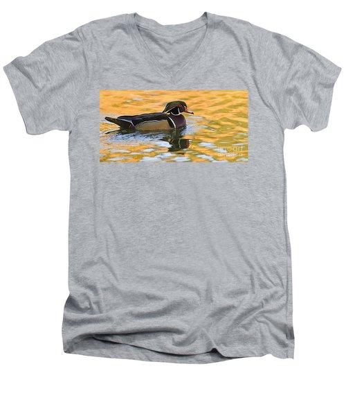 Natures Mirror   Men's V-Neck T-Shirt