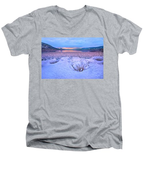 Men's V-Neck T-Shirt featuring the photograph Nature's Sculpture by John Poon