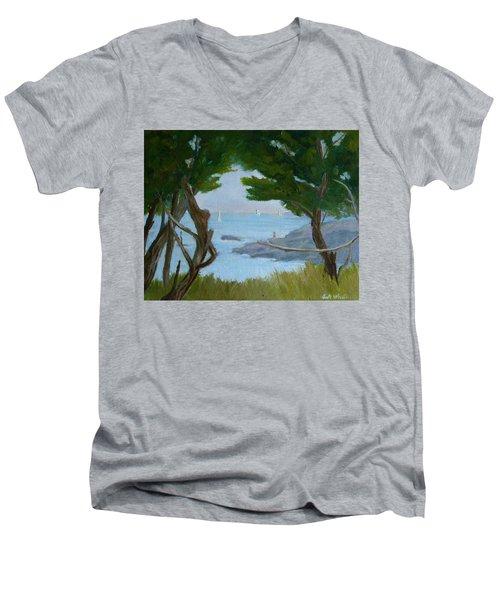 Nature's View Men's V-Neck T-Shirt