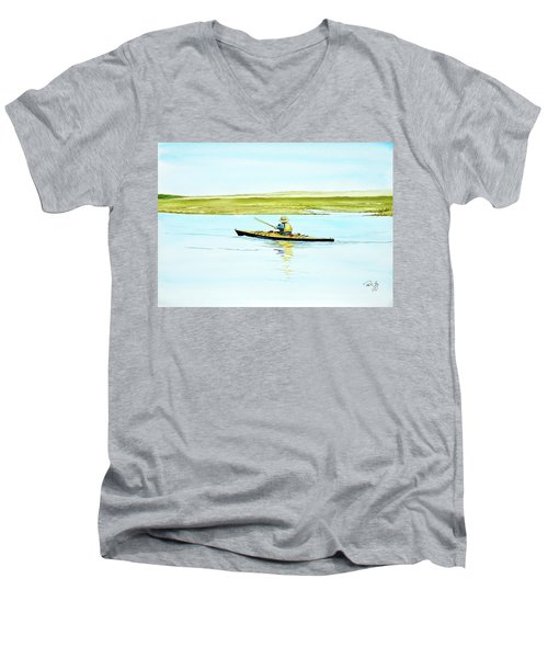 Nauset Kayaker Men's V-Neck T-Shirt