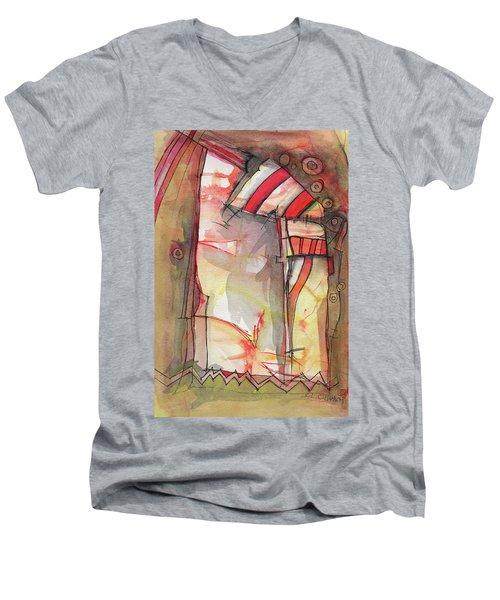 Nautical Mystery Men's V-Neck T-Shirt by Sandra Church