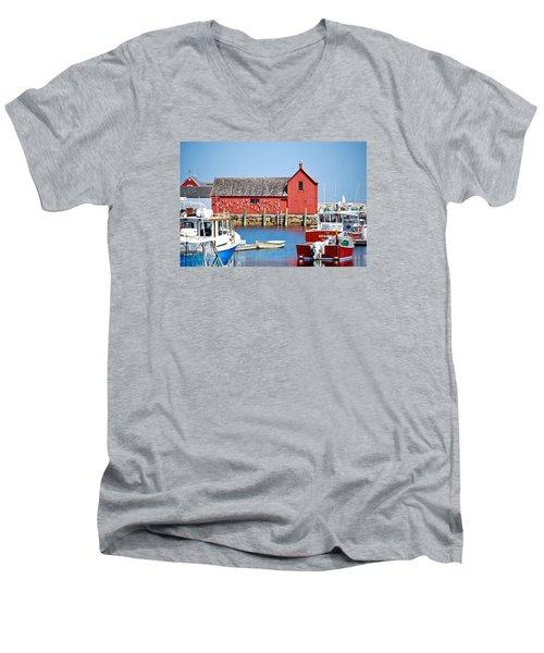 Nautical Rockport Days Men's V-Neck T-Shirt