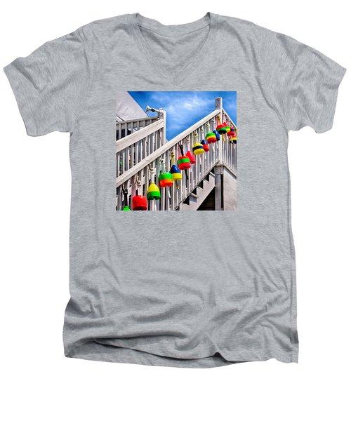 Nautical Stairway Men's V-Neck T-Shirt