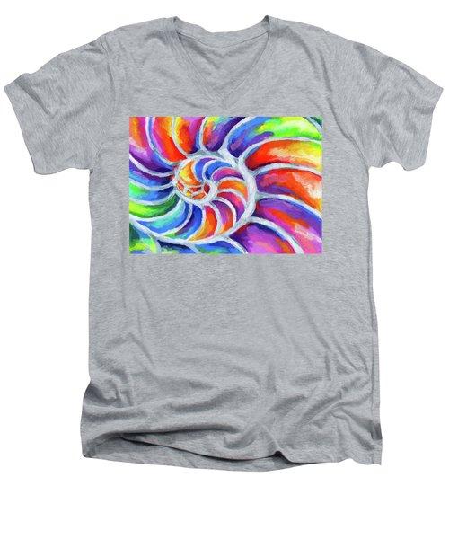 Nautilus Curves Men's V-Neck T-Shirt