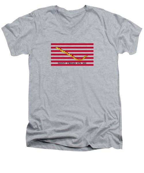 Navy Jack Flag - Don't Tread On Me Men's V-Neck T-Shirt