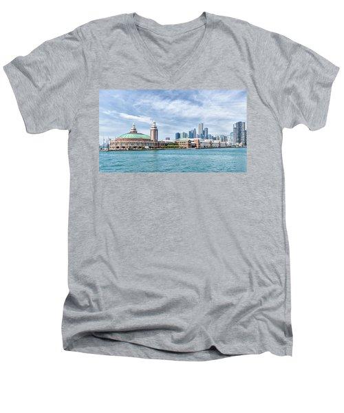 Navy Pier - Chicago Men's V-Neck T-Shirt