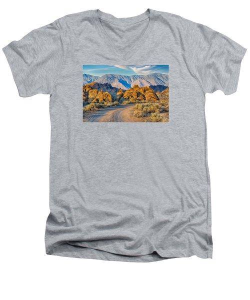 Near Sunset In The Alabama Hills Men's V-Neck T-Shirt