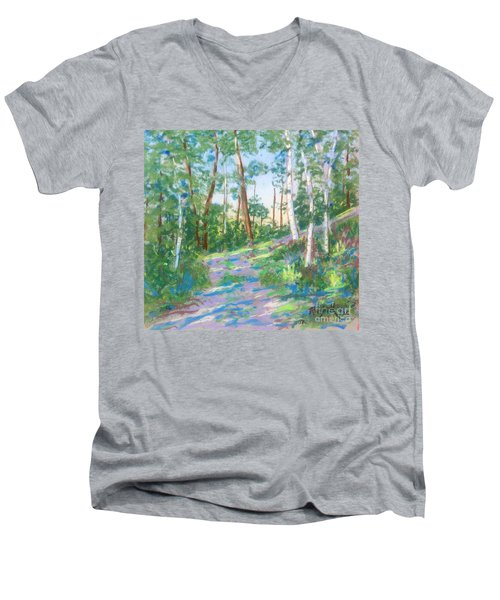 Near The Dingle Tower Halifax  Men's V-Neck T-Shirt by Rae  Smith