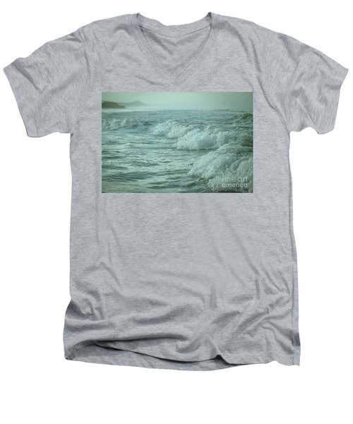 Near Waves Men's V-Neck T-Shirt by Iris Greenwell