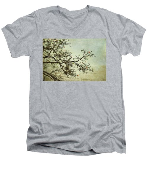 Nearly Bare Branches Men's V-Neck T-Shirt