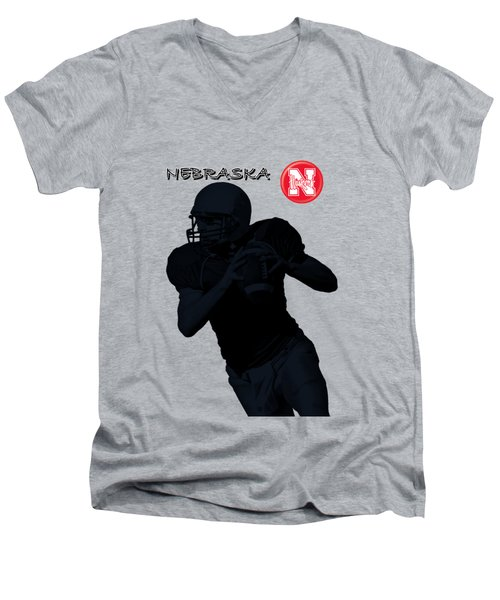 Nebraska Football Men's V-Neck T-Shirt