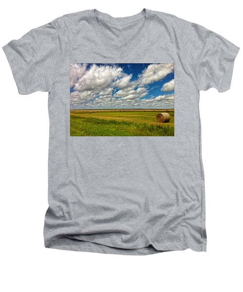 Nebraska Wheat Fields Men's V-Neck T-Shirt