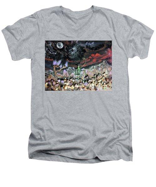Haystack Needle Men's V-Neck T-Shirt