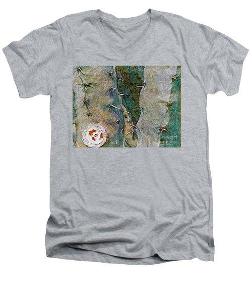 Needles In The Desert Men's V-Neck T-Shirt by Kathie Chicoine