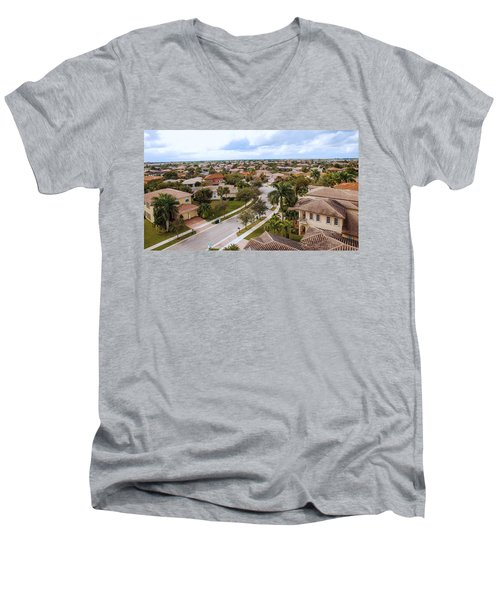 Neighborhood Aerial Men's V-Neck T-Shirt