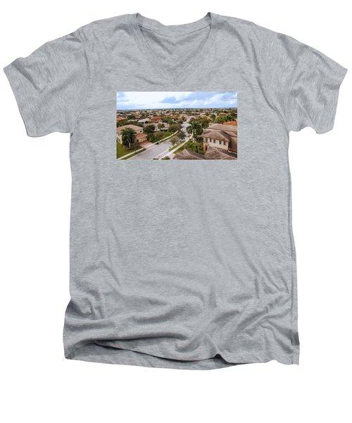 Neighborhood Aerial Men's V-Neck T-Shirt