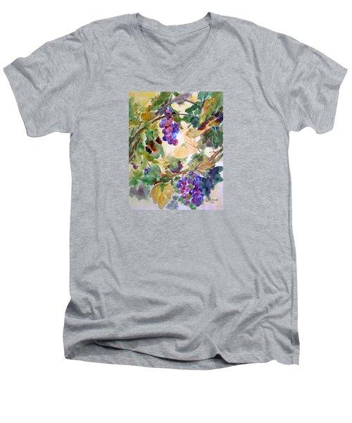 Neighborhood Grapevine Men's V-Neck T-Shirt by Kathy Braud