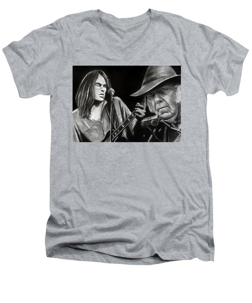 Neil Young And Neil Old Men's V-Neck T-Shirt