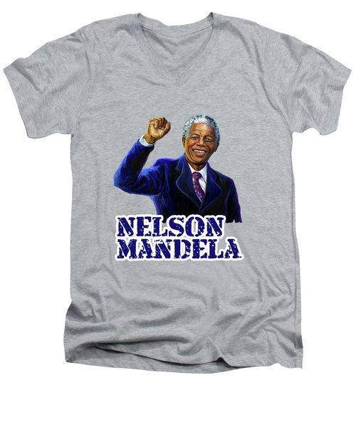 Nelson Mandela Men's V-Neck T-Shirt