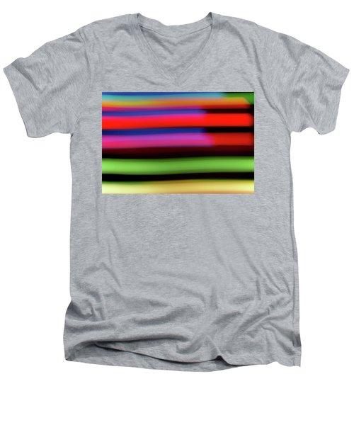Neon Stripe Men's V-Neck T-Shirt