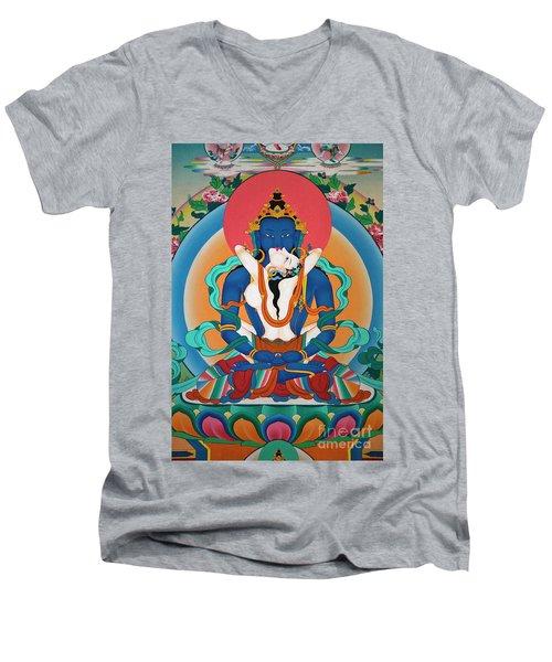 Nepal_d567 Men's V-Neck T-Shirt