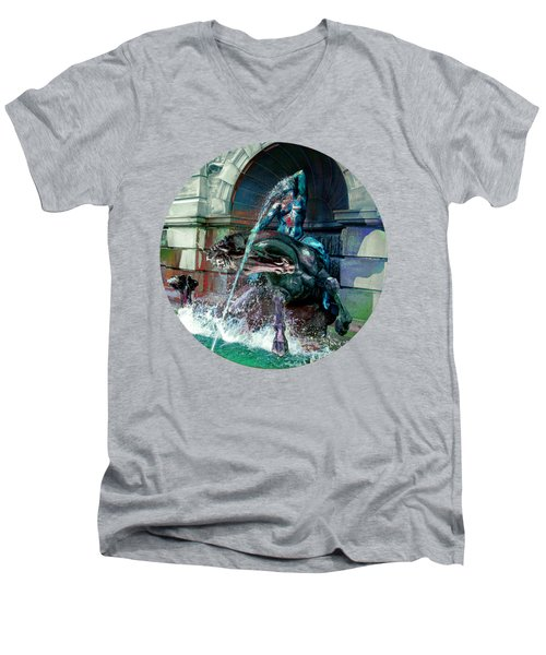 Men's V-Neck T-Shirt featuring the photograph Neptune Nymph 2 by Robert G Kernodle